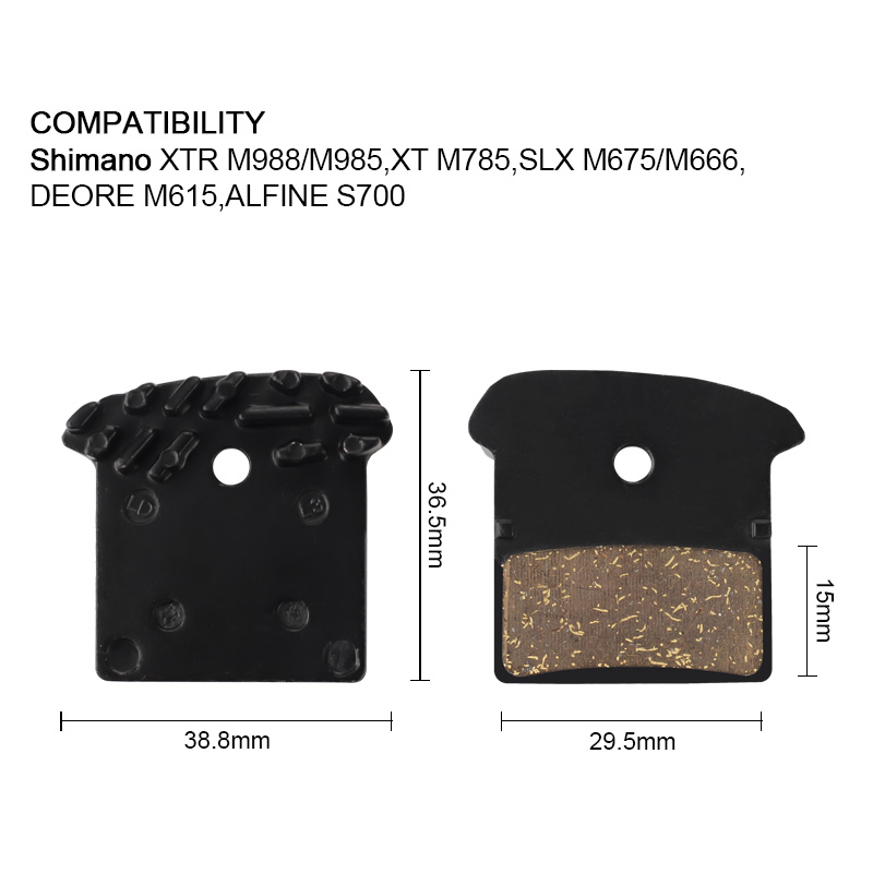 1 Paar Fahrrad Disc Bremsbeläge für Shimano XTR M985 M988 XT M785 SLX M666  #KY