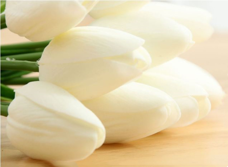 1PC PU Mini Tulips Artificial Flowers For Home And Wedding Decoration Flowers 47