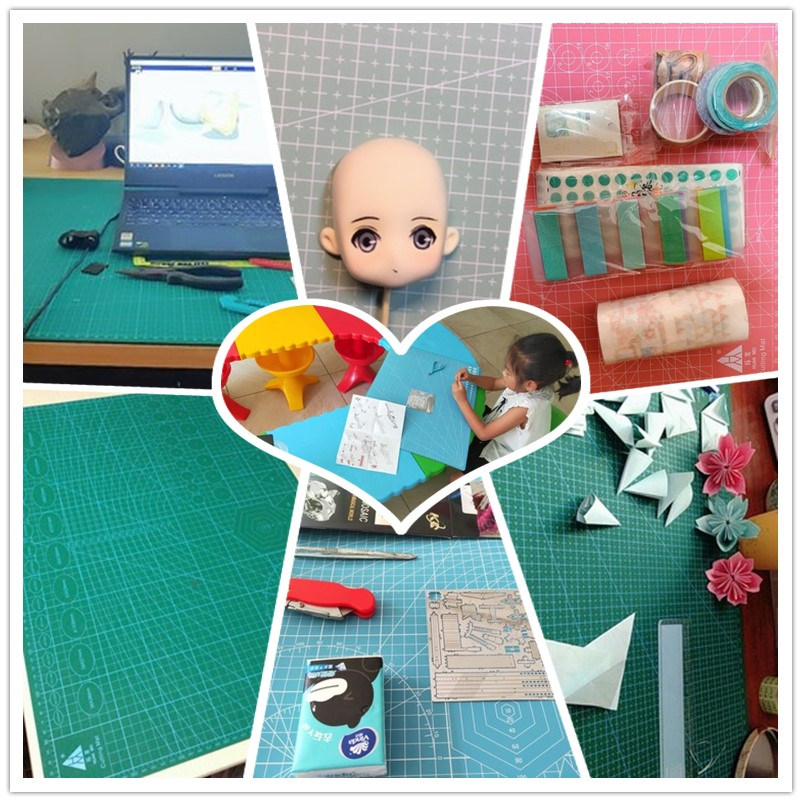 Closeout DealsCutting-Pad Craft-Card Self-Healing A2 1pcs Mat Grid-Line Desktop Multi-Color Double-Sided