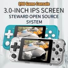 Q90 Retro Spielkonsole 3 Zoll IPS bildschirm Handheld konsole dual open system spielkonsole 16 simulatoren kinder geschenk 3D neue spiele