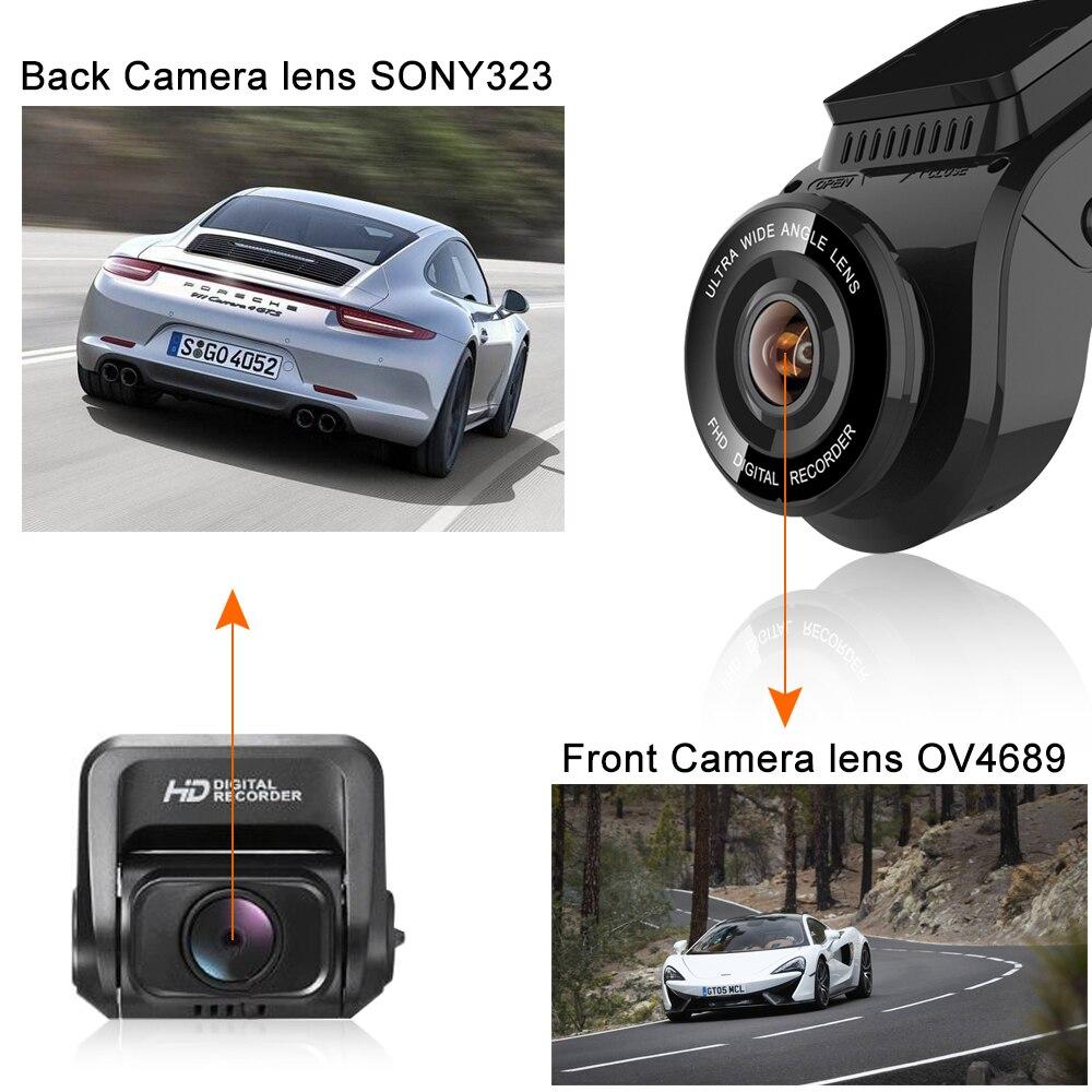 Bluavido 4K 2160P Dash cam with 1080P Rear Camera GPS logger ADAS IMAX323 sensor car Video Recorder Novatek96663 Nightvision DVR - 4