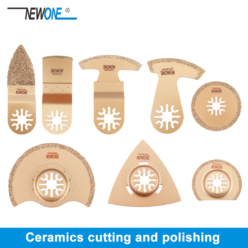 1pc NEWONE Carbide Oscillating Saw Blades Tile Prorous Concrete Cement Ceramics Cutter For Universal Multi-tool Fein Makita Etc.