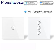 Wifi Smart Switch  EU 2/3 Way Multi-control Association APP Remote Control Works with Amazon Alexa Google Home for Smart Life
