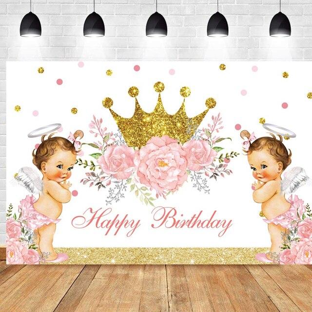 Фото фон для фотографий маленькая принцесса новорожденная вечеринка цена