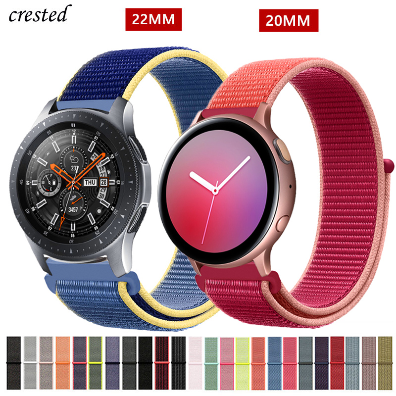 20/22mm Band For Galaxy Watch 46mm/42mm/active 2 Strap Samsung Gear S3 Frontier Sport Nylon Bracelet Huawei Watch GT 2 S2 46 Mm