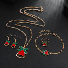 Hello Miss Christmas New Jewelry Cartoon Personality Bell Necklace Combination Fashion Womens jewelry
