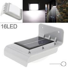 Solar Wall Lamps 16 LED  Power Motion Sensor Garden Security Lamp Outdoor Waterproof Light with Photosensitive Control