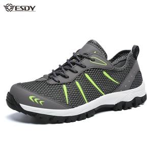 Image 1 - Männer Turnschuhe Atmungsaktiv Casual Schuhe Männer Mesh Lace up Komfortable Outdoor Walking Schuhe Mode Sport Männer Schuhe Plus Größe 48