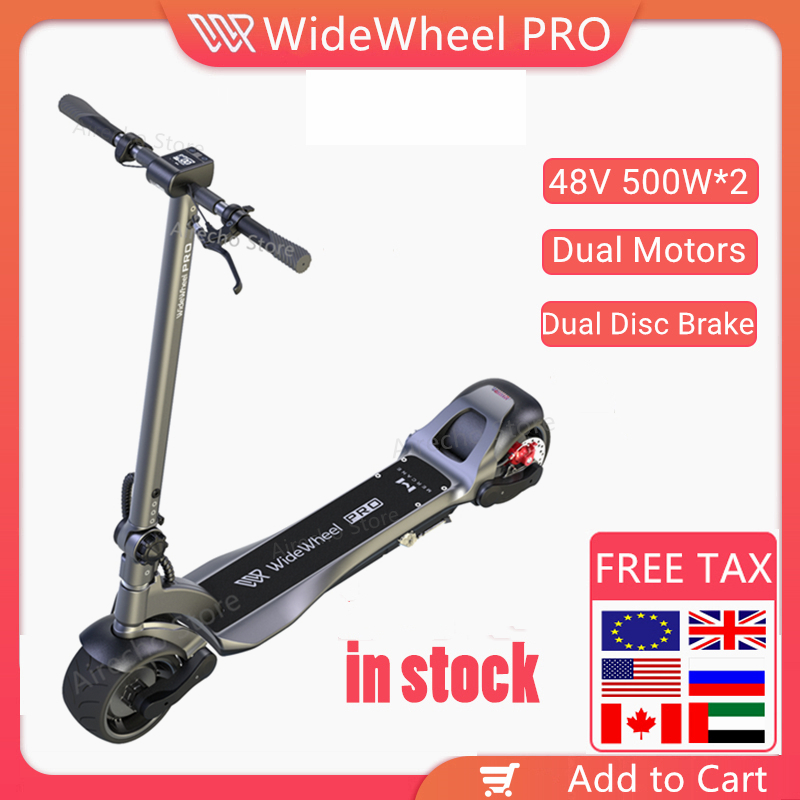 2020 Mercane Wide Wheel Pro Smart Electric <font><b>Scooter</b></font> 48V <font><b>1000W</b></font> Kickscooter Dual Motor e <font><b>scooter</b></font> Disc Brake Skate board image