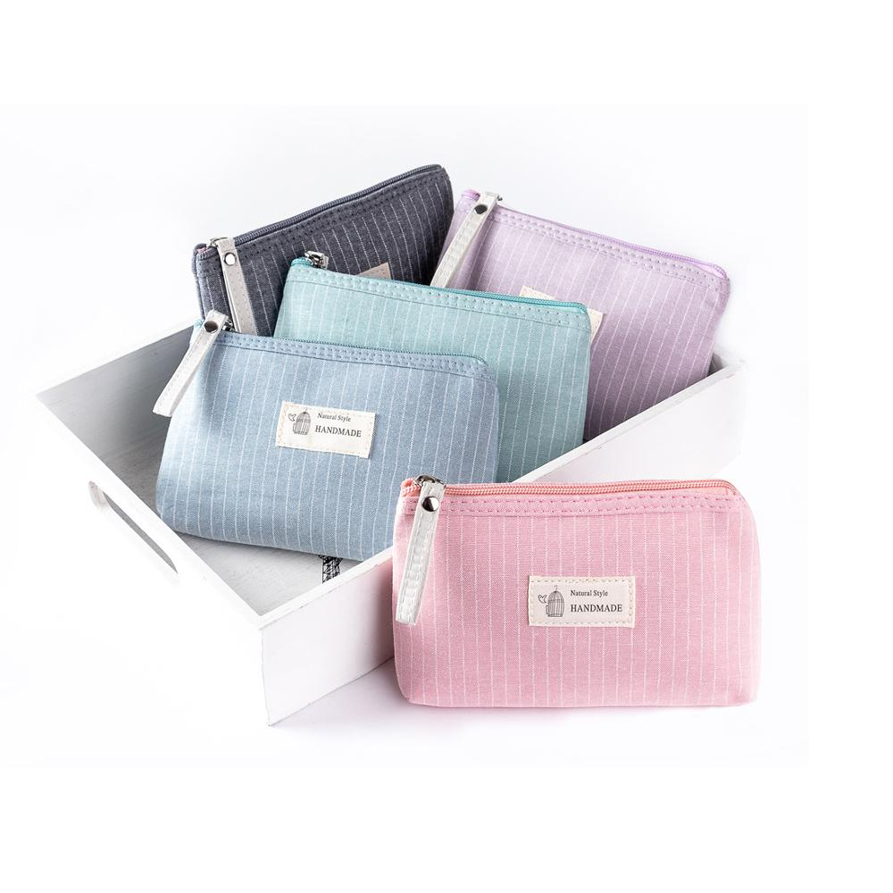 Miyahouse Dailu Use Small Make Up Bag Cosmetic Bag Female Zipper Design Cosmetic Bag Ladies Color Cute Cosmetic Bag