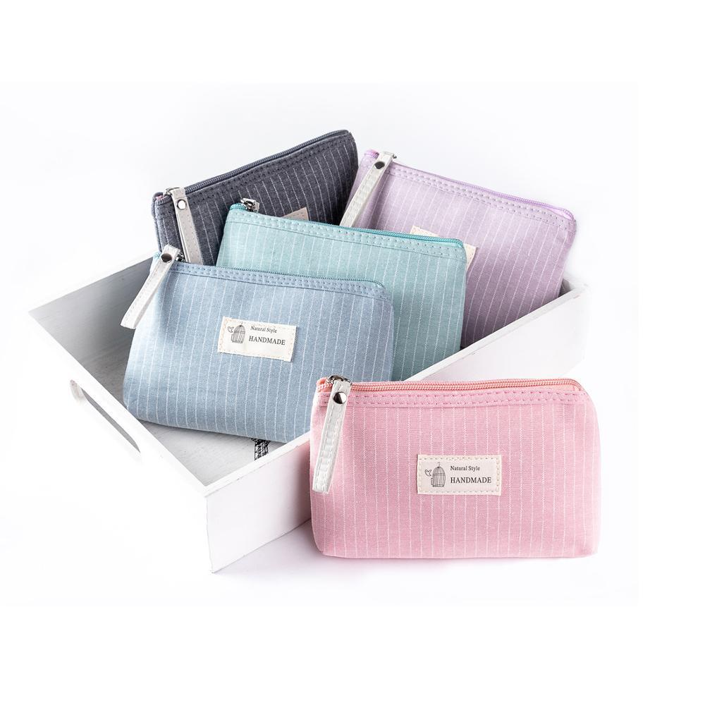 Miyahouse Dailu Use Small Make Up Bag Cosmetic Bag Female Zipper Design Cosmetic Bag Ladies Color Cute Cosmetic Bag
