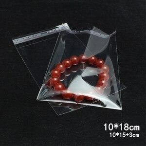 Image 1 - 500pcs 10*18cm 투명 셀프 씰링 비닐 봉투 쥬얼리 선물 가방 쿠키 opp 팩 가방 셀로판 홈 웨딩 장식