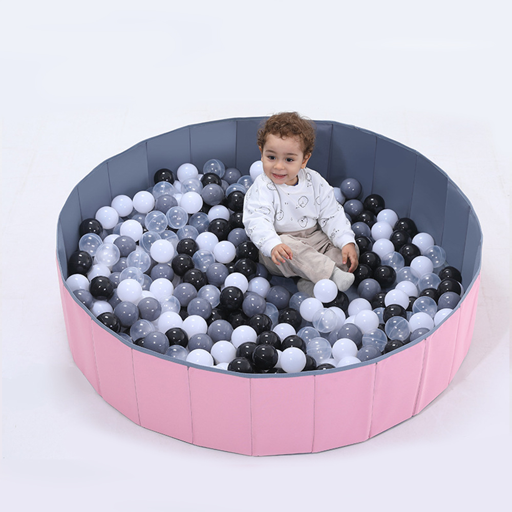Infant Shining Ball Pits Foldable Ball Pool Ocean Ball Playpen Toy Washable Folding Fence Dry Pool With Balls Kids Birthday Gift