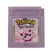Cartucho de videojuegos para Nintendo GBC, tarjeta de consola, serie Poke, color rosa, versión en inglés