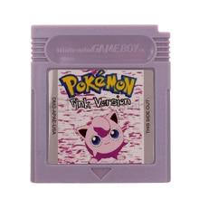 Dla Nintendo GBC gra wideo kaseta karta konsoli seria Poke różowy język angielski wersja