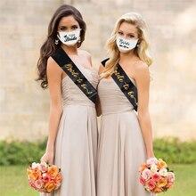 Equipe máscara de noiva decoração de festa decoração respirável máscara de poeira decoração de casamento nupcial para ser hen party chuveiro de noiva