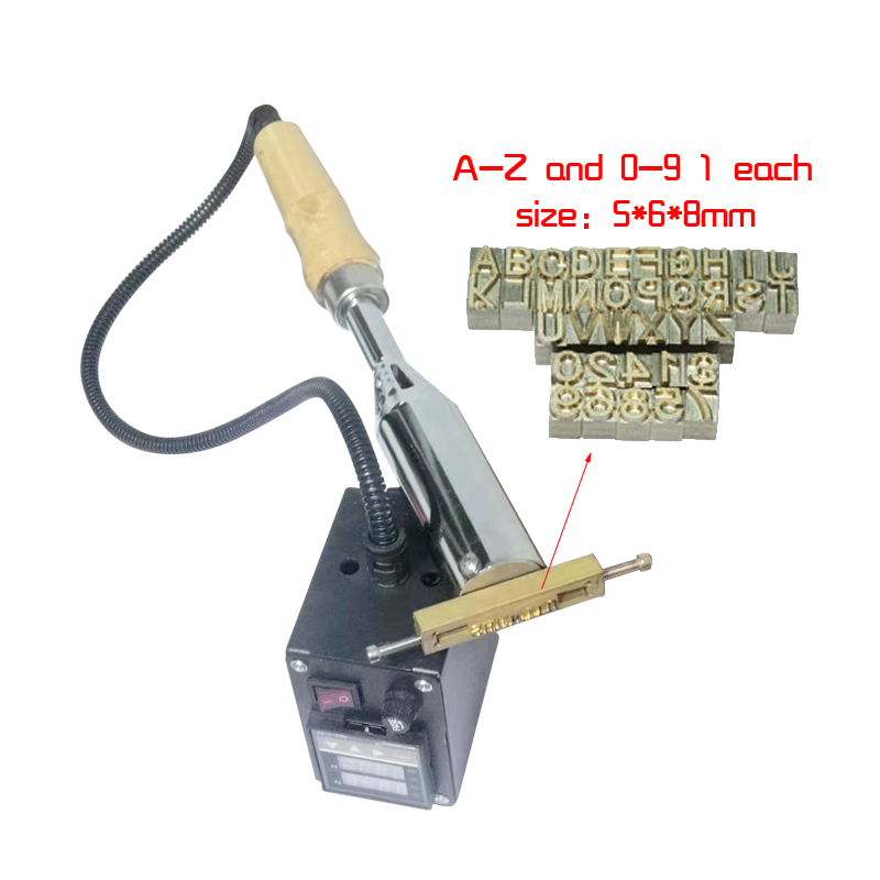 Hot Stampping Machine Number And Letter And Logo Stamper Hand Held Woold Embosser Plastic Bronzing Machine Brass Logo Printer