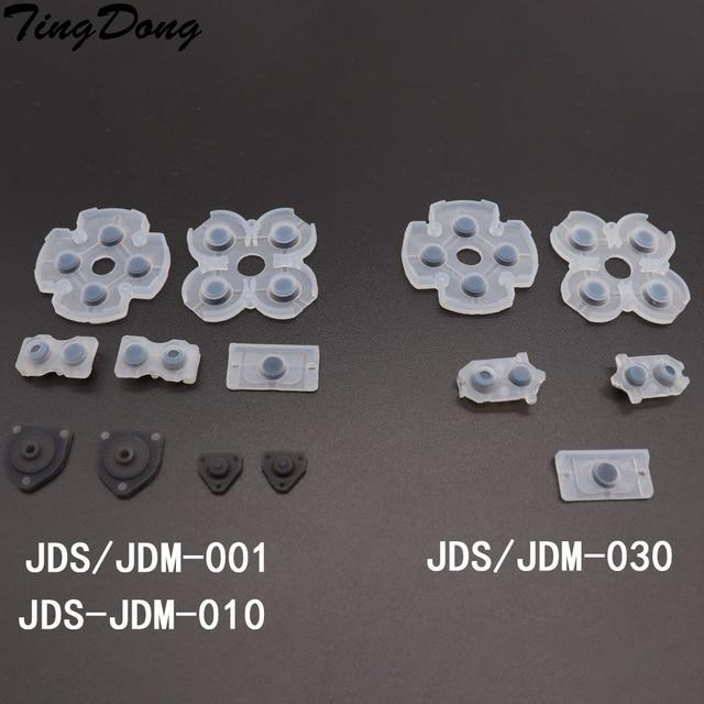 Almofadas de borracha condutoras lr, tindong, melhor qualidade, para jdm001, jdm010, jdm030, ps4, controle dualshock, 4 botões, borracha de contato