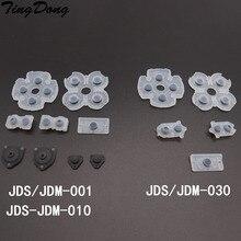 TingDong Migliore Qualità LR Conduttivi In Gomma Pads Per JDM001 JDM010 JDM030 PS4 Controller Dualshock 4 Bottoni di Contatto In Gomma