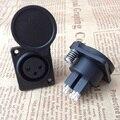 10 шт. XLR 3-контактный медный прямой разъем XLR с водонепроницаемой крышкой трехъядерный разъем для микрофона