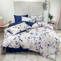 40 European Egyptian cotton bed linen Soft Satin bedding floral pastoral duvet cover pillowcases bedspread 4pcs set