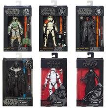 Star Wars 6-inch The Black Series Boba Fett Stormtrooper Sandtrooper Darth Maul Darth Vader Kylo Ren Action Figures Kids Toys