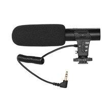Captador Microfone Mini Mic Microfone para Câmera de Gravação de Vídeo da câmera Entrevista Vlogging para Sony Canon Nikon DSLR Camera