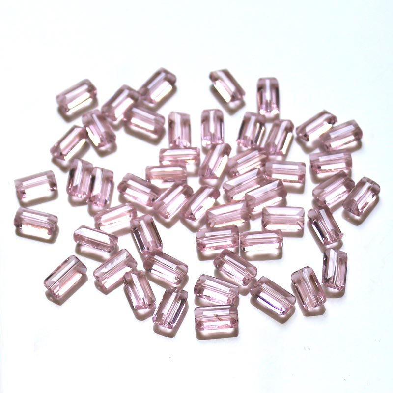 StreBelle AAA Rectangle Austrian crystal glass beads 12x6m 100pcs Square glass bead for DIY Jewelry bracelet making 100pcs Bag in Beads from Jewelry Accessories