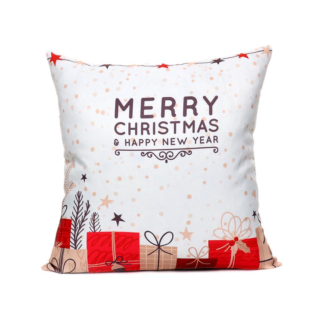 Free Shipping Factory Direct Cross-border Explosions Peach Skin Christmas Series Living Room Sofa Pillow Pillowcase (coreless)