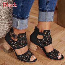 Women Fashion Open Toe High Heel Thick Bottom Buckle Hollow Out Sandals Large Size summer sandals women sandals Gladiator shoes 2017 new mixed colors leather gladiator women sandals open toe shoes women summer shoes high heel hollow out lace up sandals