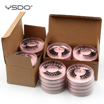 YSDO Mink Eyelash Wholesale 4/10/20/50/100 PCS Faux 3D Mink Lashes Natural False Eyelashes Makeup Fluffy Wispy Fake Lashes Bulk 1