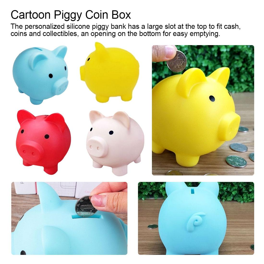 Money Saving Case Piggy Bank Home Decor Children Toys Money Boxes Cartoon Pig Shaped Birthday Gift Coins Storage Box
