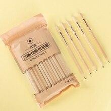 100 простой деревянный карандаш HB основной карандаш экологически чистый нетоксичный шестиугольный карандаш канцелярские принадлежности для офиса и школы