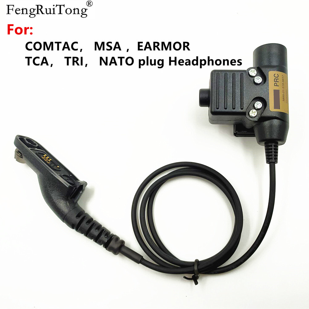 Tactical U94 PTT For COMTAC MSA EARMOR TCA TRI NATO Plug Headset For Motorola APX6000 XPR6300 DP4800 MTP6550 P8200 P8268 Radio