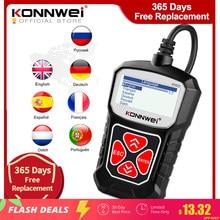 KONNWEI-Herramienta de diagnóstico automotriz KW310, autoescáner OBD2, revisión de sistemas de coche, interfaz de lenguaje en ruso, lector de códigos PK Elm327
