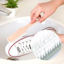 Однотонная мягкая щетинная щетка для обуви пластиковая маленькая щетка для обуви Чистка для чистки обуви Кисть для белья многофункциональная Бытовая щетка