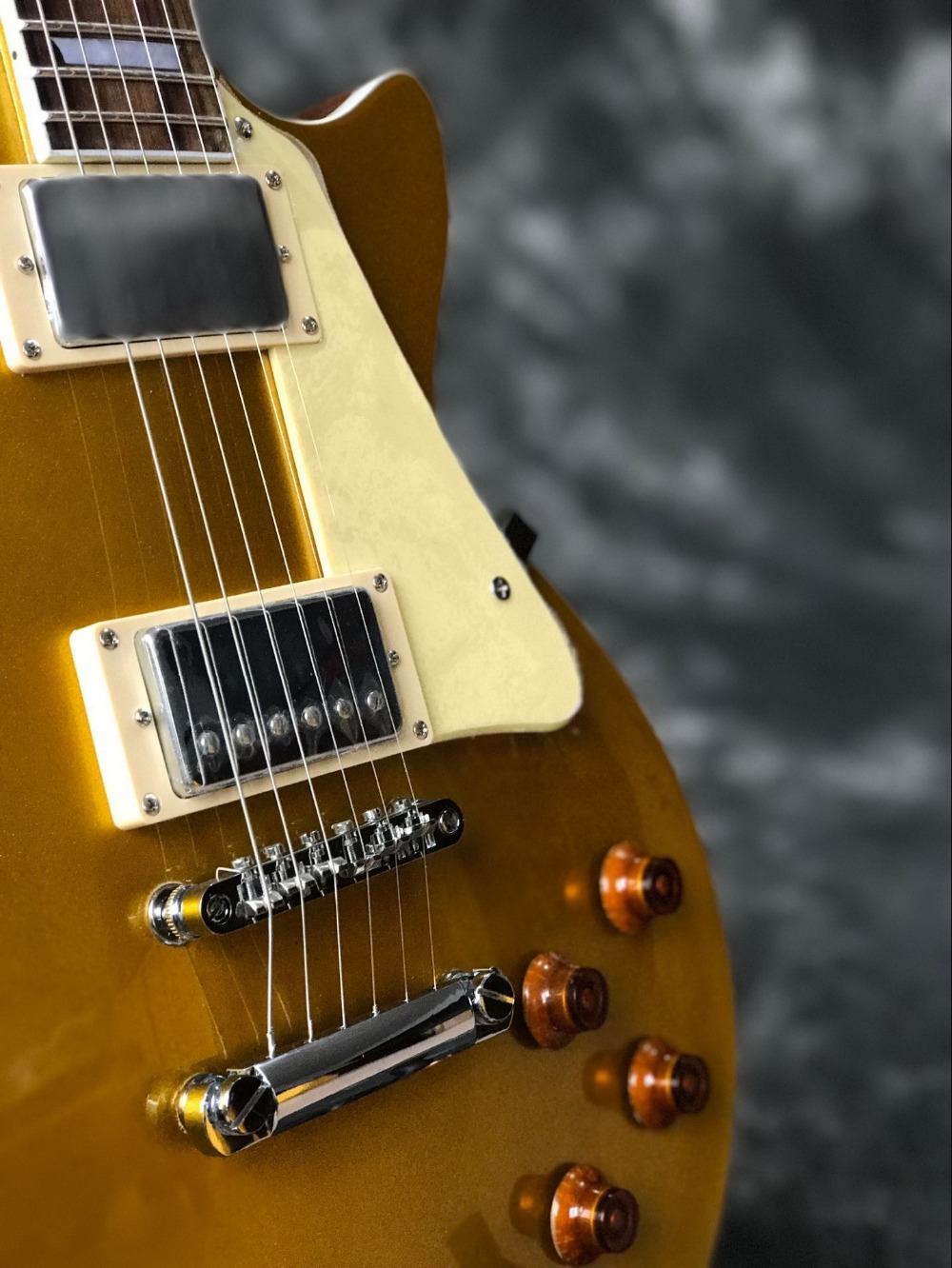 Classic Custom gold top with Chrome hardware LP standard custom electric guitar Standard Chibson guitarra.musical instruments.199 (2)