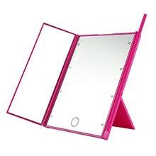 Светодиодный Макияж Зеркало Регулируемый свет san zhe jing светодиодный Парикмахерское зеркало для макияжа портативное складное зеркало для макияжа 3-way Mirr