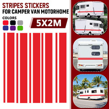 5 stücke RV Wohnmobil Streifen Grafiken Aufkleber Vinyl Streifen DIY Decals Decor Universal Für Camper Van Anhänger
