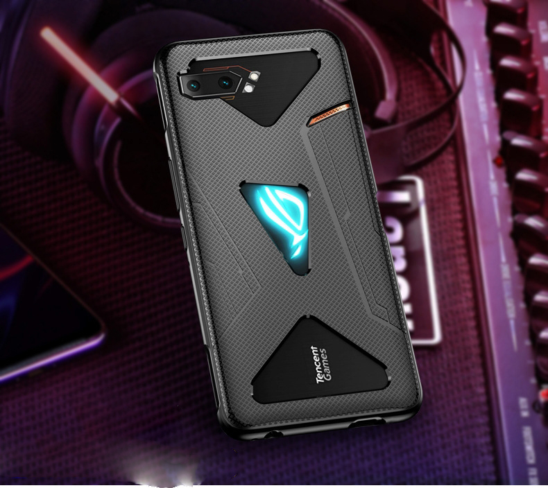 For Asus ROG Phone 2 ZS660KL ROG2 Case Anti-Fingerprint Shockproof Breathable Heat Soft Back Cover For Asus ROG Phone II Funda