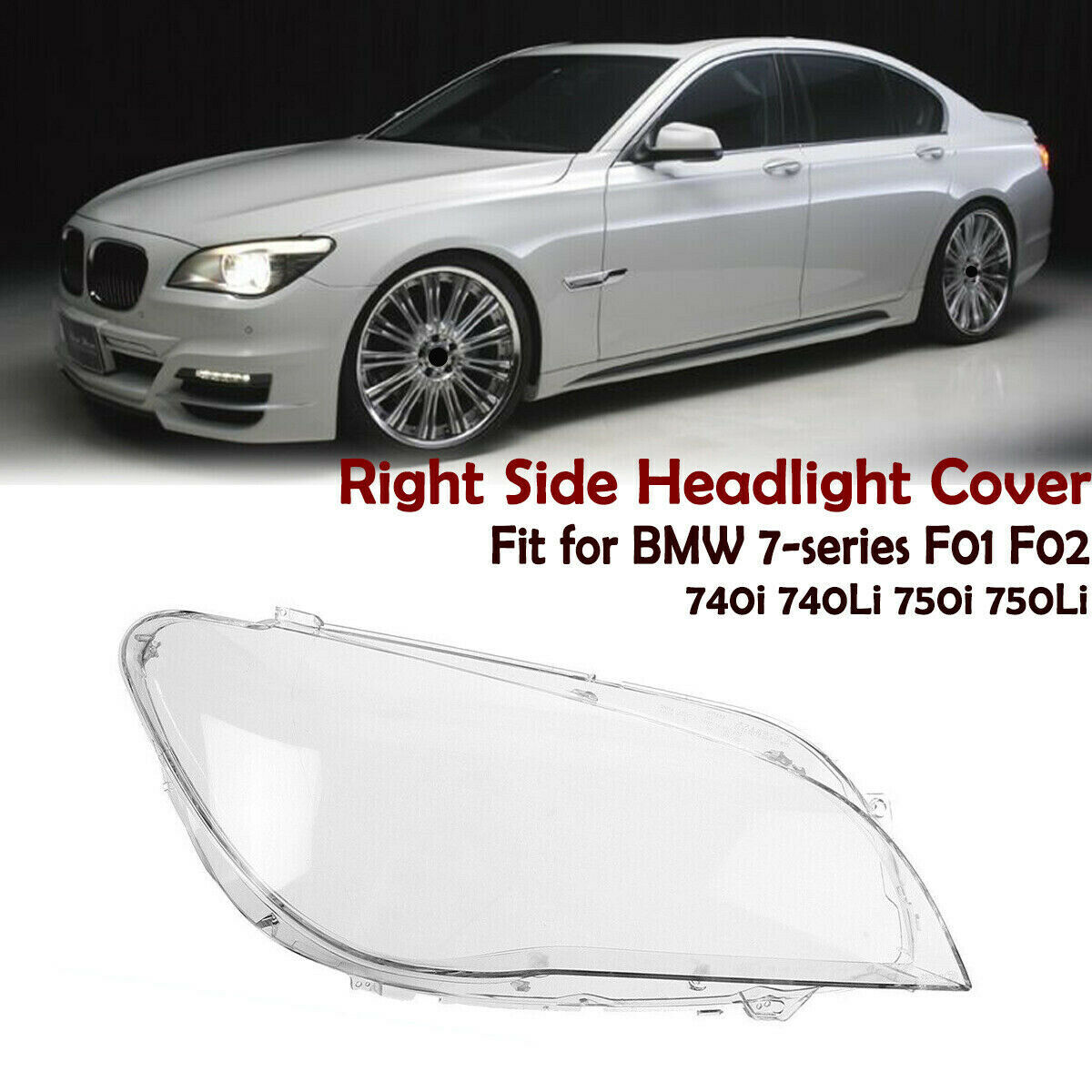 Car Headlamps Transparent Lampshades Lamp Shell Masks Headlights Cover Lens For BMW 7 Series 09-15 F02 F01 Front Headlight Glass
