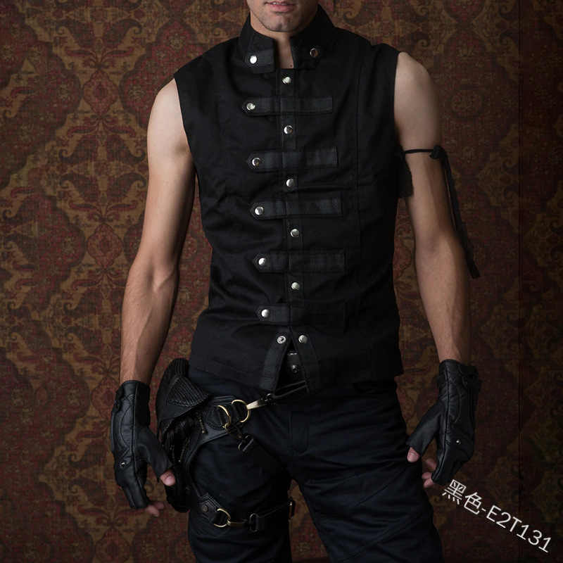 men Medieval Stage vest Costume waistcoat Tunic Warrior Pirate Costume Adult Me