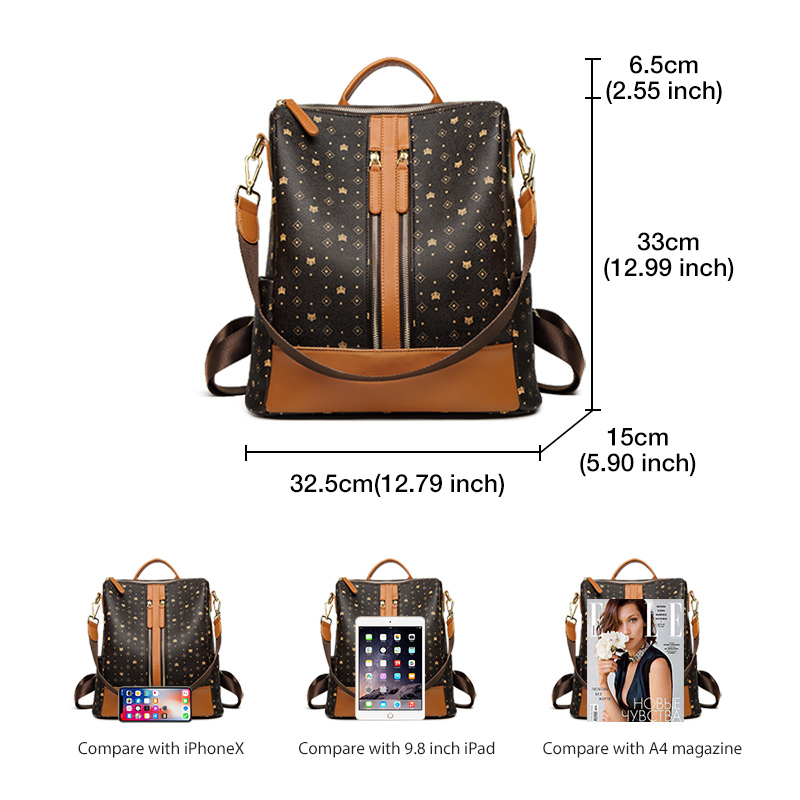 Foxer Pami Women PVC Backpack Retro Style