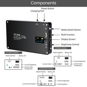 Image 3 - VIJIM VL 2 RGB LED וידאו אור 2500 K 8500 K Dimmable מנורת צילום תאורה עבור Sony ניקון DSLR מצלמות