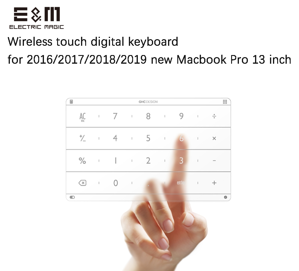 Ultra Thin Wireless Intelligent Digital Touch Keyboard TouchPad for Laptop 2016 2017 2018 2019 Macbook Pro 13 Inch Notebook-in Integrated Circuits from Electronic Components & Supplies