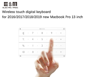 Image 1 - Ultra Thin Wireless Intelligent Digital Touch Keyboard TouchPad for Laptop 2016 2017 2018 2019 Macbook Pro 13 Inch Notebook