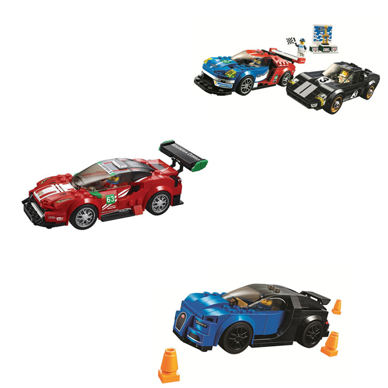 392pcs Speed Champions Car Building Blocks Bricks Compatible <font><b>75888</b></font> 75886 Toys for Children Gift image