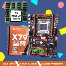 Desconto huananzhi x79 deluxe placa mãe com m.2 slot lga2011 pacote de placa mãe cpu intel xeon e5 2650 v2 ram 16g (4*4g)