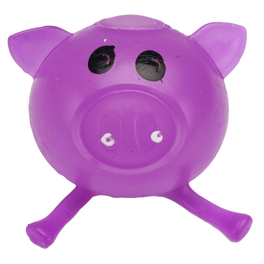 Kids Toys Jello Pig Cute Anti Stress Splat Water Pig Ball Vent Toy Venting Sticky Pig Non-Toxic Clear Relief Stress Toys