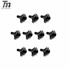 20pcs 5mm Motorcycle Universal Body Fairing Bolts Spire Speed Fastener Clips Screw Nuts Set CNC Aluminium 10 set cnc motorcycle aluminum 6mm m6 body fairing bolts spire speed fastener clips screw spring nuts for harley honda kawasaki